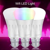 HURRISE 7W E27 / B22 WiFi Bulb Wireless Remote Control Dimmable RGBW Smart LED Bulb Lamp Light, Wifi LED Light, WiFi Light Bulb