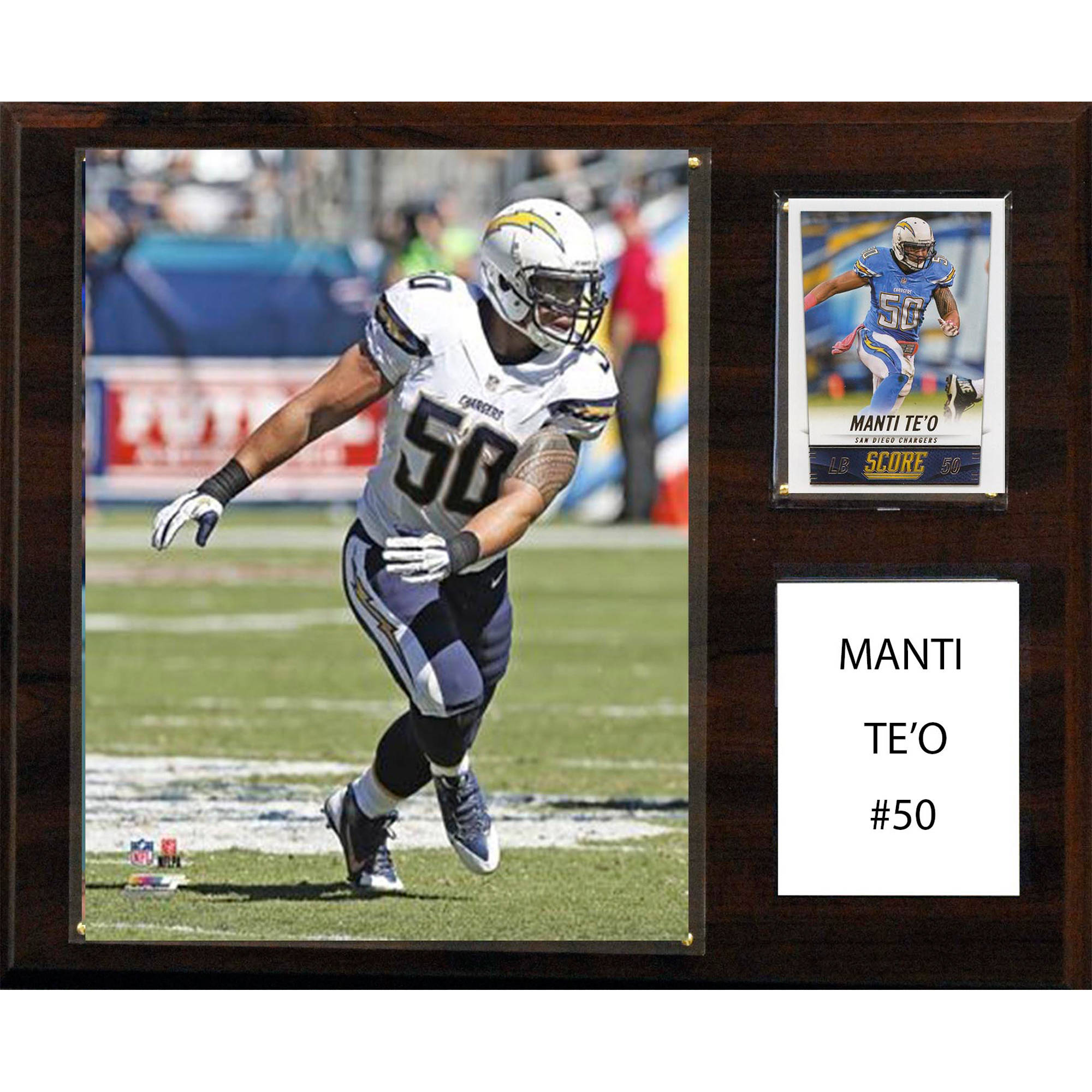 C&I Collectables NFL 12x15 Manti Te'o San Diego Chargers Player Plaque