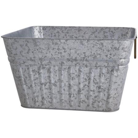 Better Homes & Gardens Galvanized Steel Square Tub, 1 - Plastic Ice Tub