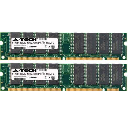 1GB Kit 2x 512MB Modules PC100 100MHz NON-ECC SD DIMM Desktop 168-pin Memory Ram