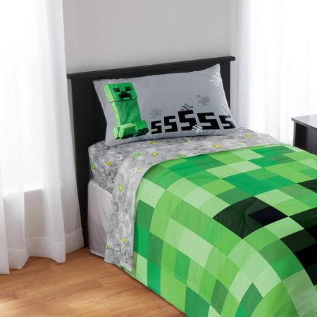 Minecraft bedding sheet set for Cuartos decorados minecraft