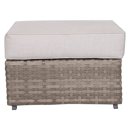 Bali Wicker - Teva Patio Bali Outdoor Wicker Ottoman with Sunbrella Cushion