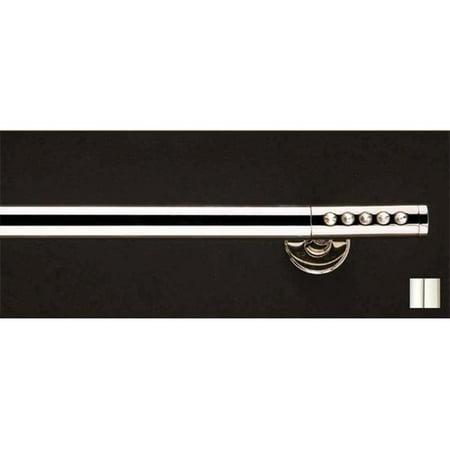 - Vesta 1148 Curtain Rod Set - 1.25 in. - Chrome - 126 in.
