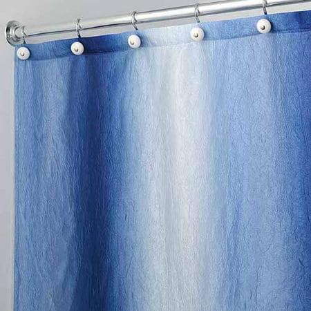 Curtains Ideas blue ombre shower curtain : InterDesign Ombre Fabric Shower Curtain - Walmart.com