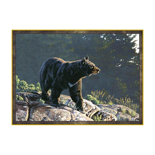 Custom Printed Rugs Wildlife Black Bear Area Rug