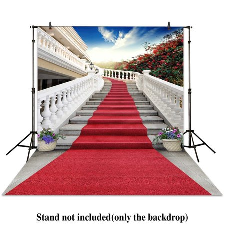 GreenDecor Polyester Fabric 5x7ft photography backdrop wedding red carpet stairs fence bonsai sunshine backgrounds photocall photographic photo studio](Red Carpet Backgrounds)
