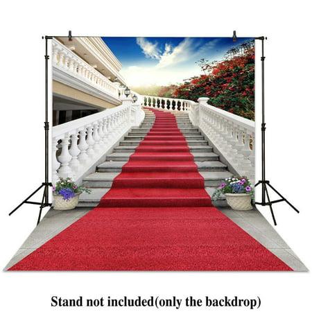 GreenDecor Polyester Fabric 5x7ft photography backdrop wedding red carpet stairs fence bonsai sunshine backgrounds photocall photographic photo studio](Carpet Photo)