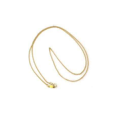 16 Toggle Rolo Necklace - 14k Yellow, White or Rose Gold 1.2mm Round Rolo Cable Chain Necklace, 13
