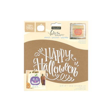 Pug Halloween Stencil (Decoart Value Kraft Stencil 8x8 Halloween)