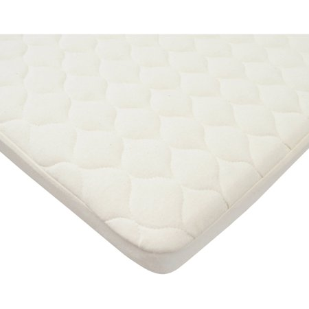 TL Care Natural Waterproof Quilted Pack and Play Size Fitted Mattress Cover Made with Organic Cotton Waterproof Organic Cotton Flat