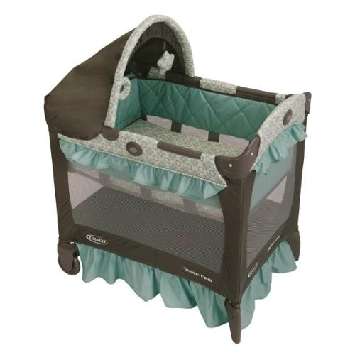 Graco Baby Travel Lite Portable Folding Crib w/ Bassinet - Winslet | 1852645
