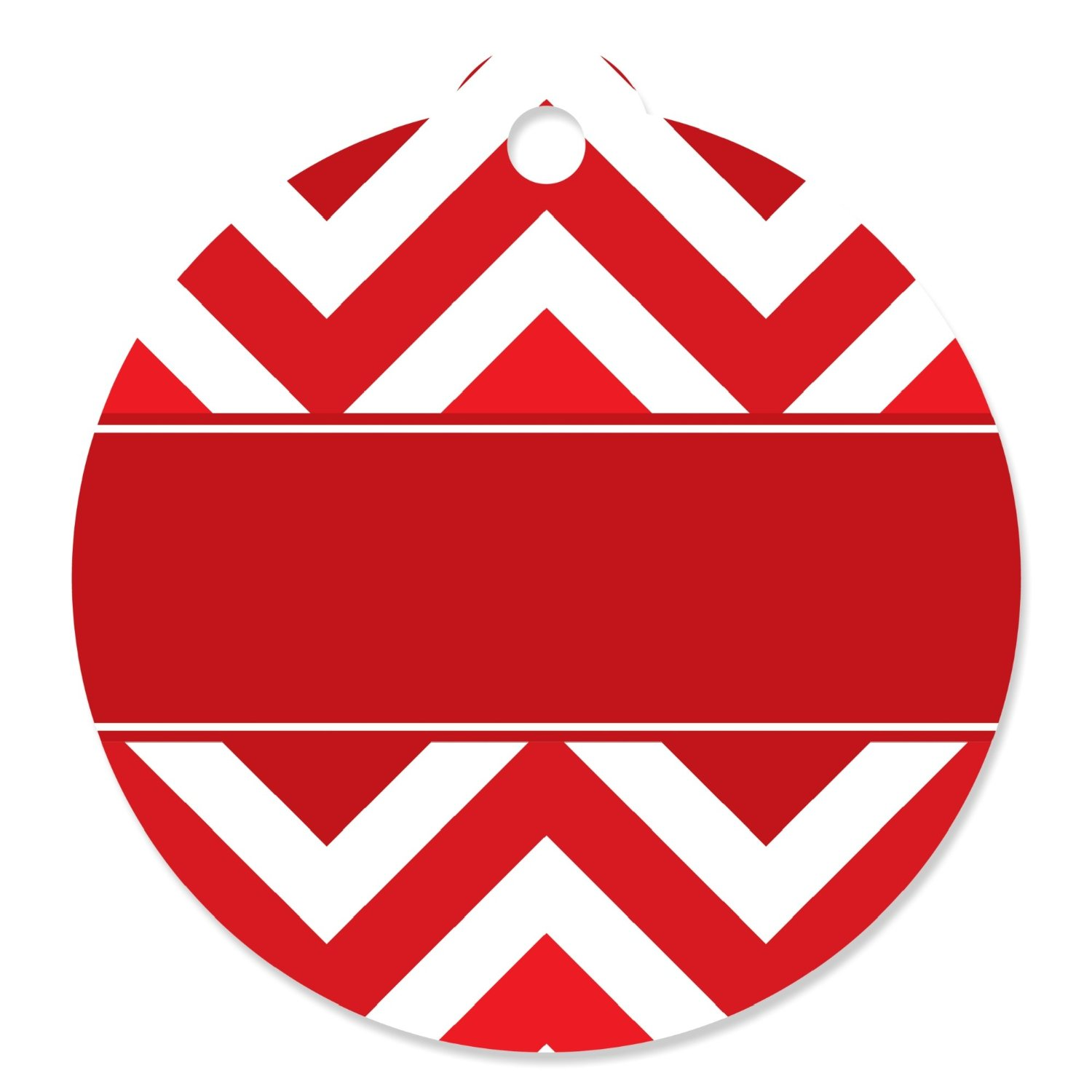 Chevron Red - Party Favor Tags (Set of 20)