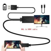 Micro USB to HDMI MHL Cable TV Out Lead 1080p Cable Adapter 5Pin 11Pin for Samsung Galaxy S5 AndroidBlack