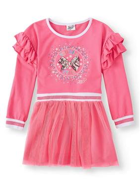 6580bc4c221 Product Image Bow Popover Sweatshirt Tulle Dress (Little Girls   Big Girls)