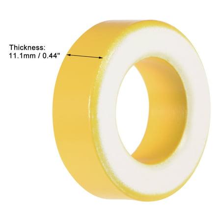 19.5 x 33.5 x 11.1mm Ferrite Ring Iron Powder Toroid Cores Yellow White - image 2 of 3