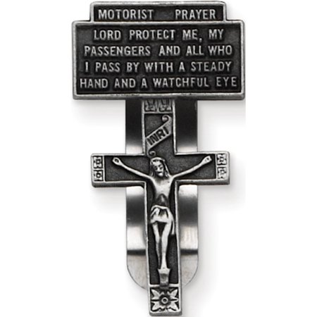 Motorists Prayer Crucifix Visor -