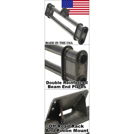 Usa Made 8 Inch Wider Mild Steel King And Link Pin Axle Beam Without Towers For Coil Over Shocks