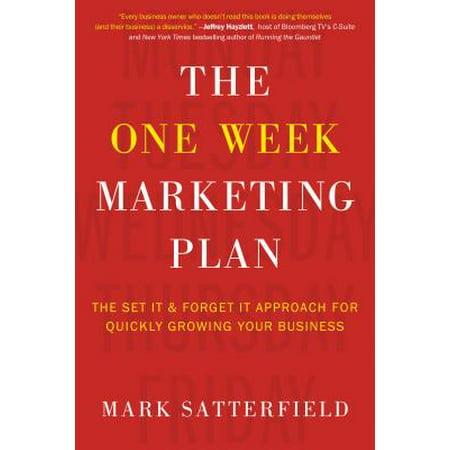 The One Week Marketing Plan (Paperback) (Utah Business Week)
