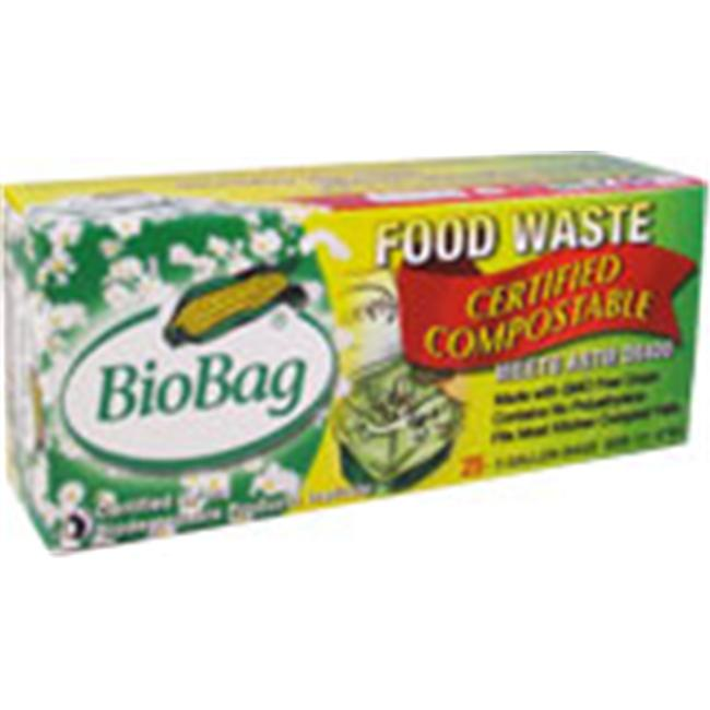 Biobag 187128 3 Gallon Compostable Food Scrap Bags 25 Count