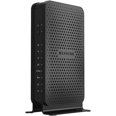 NETGEAR N600 (8x4) WiFi Cable Modem Router Combo C3700, DOCSIS 3.0 | Certified for XFINITY by Comcast, Spectrum, Cox, and more (C3700-100NAS) Compatible Wireless Modem Jack