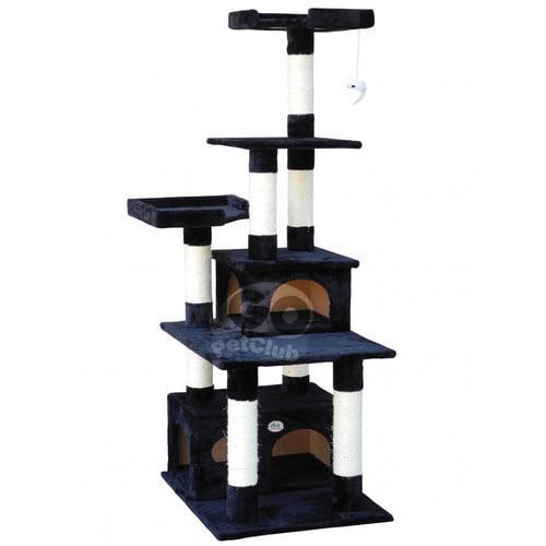 "GoPetClub 67"" Brown Cat Tree Furniture Condo House"