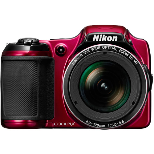 Nikon Red COOLPIX L820 Compact System Digital Camera with 16 Megapixels, 30x Optical Zoom and 4-120mm Lens Included