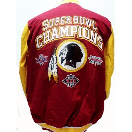 new product a8eed 71c3f Washington Redskins Cotton Canvas Super Bowl Champions Jacket