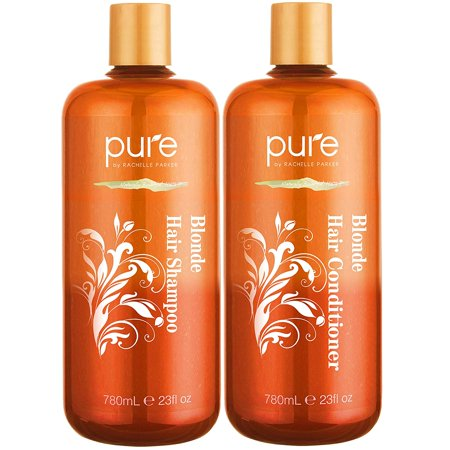 Shampoo and Conditioner for Blonde Hair. Protects & Balances- Shampoo and Conditioner for Color Treated Hair, Blonde, Bleached & Highlighted Hair. Sulfate Free Purple Shampoo & Conditioner Set by (Best Shampoo And Conditioner For Blonde Highlighted Hair)