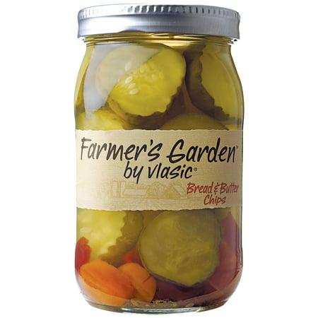 - (2 Pack) Farmer's Garden by Vlasic® Bread & Butter Chips 26 fl oz Jar