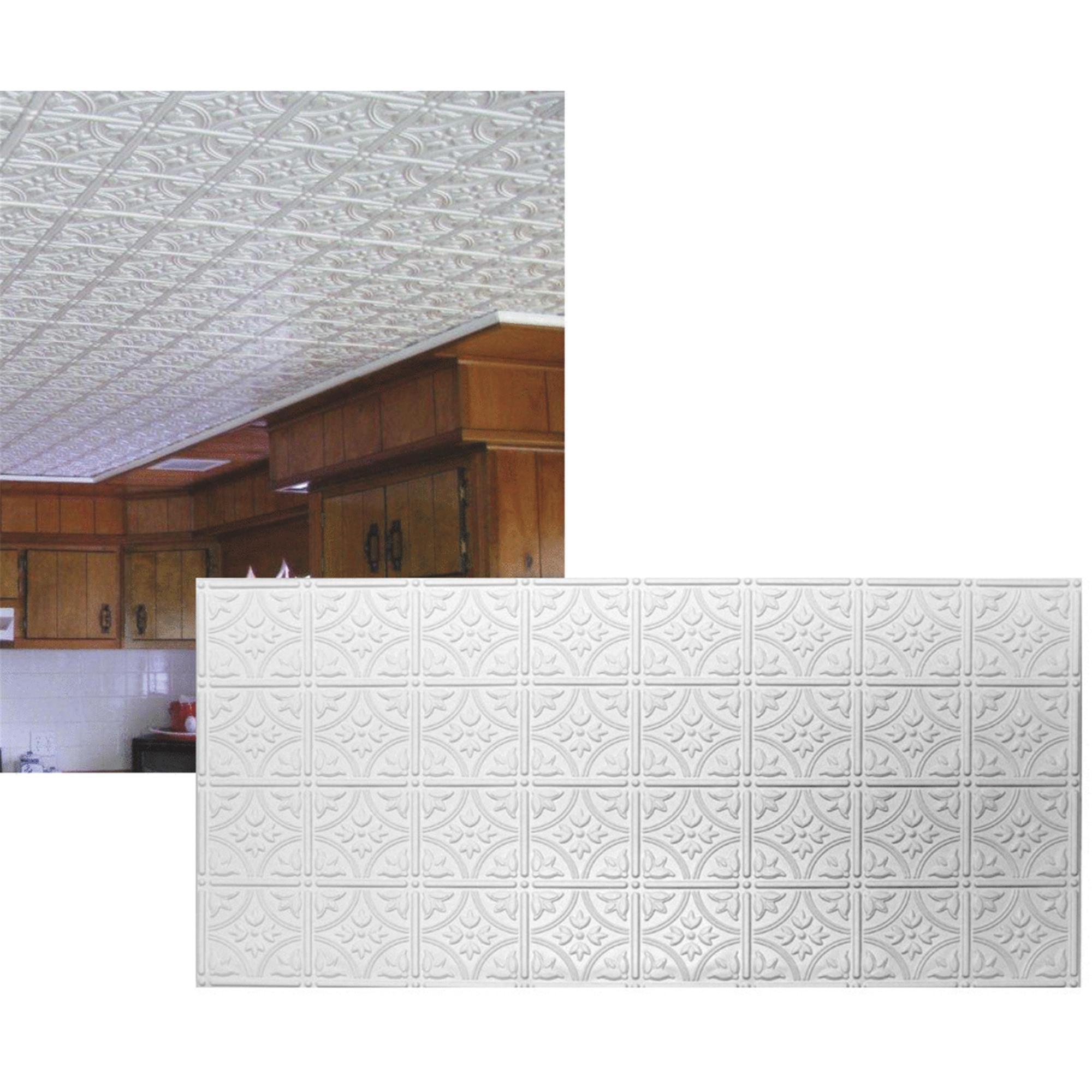 Dimensions Tin Look Nonsuspended Ceiling Tile & Backsplash - Walmart.com