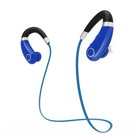 Rymemo Bluetooth Headphones Headset Wireless Sweatproof Earbuds Stereo Sports Earhook Earphones (Earhook Bluetooth Headphones)