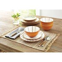Better Homes & Gardens 12-Piece Sabin Striped Dinnerware Set