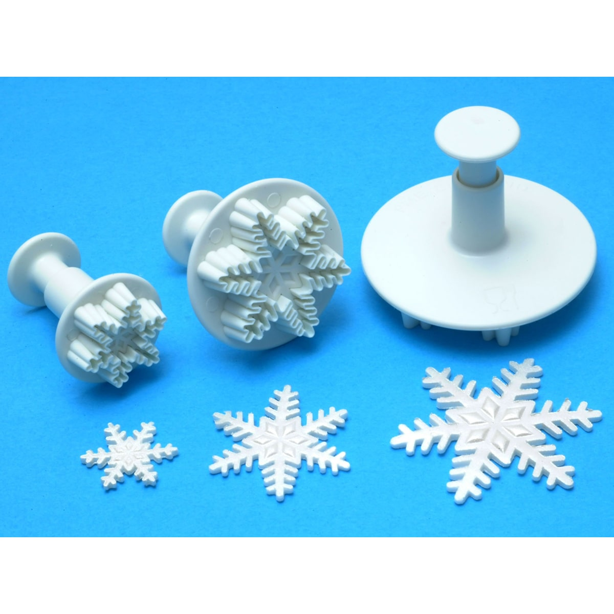 PME Plunger Cutter Set 3 Pieces-Snowflake