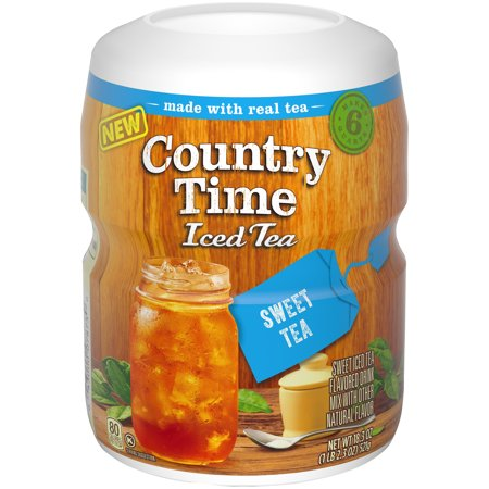 (3 Pack) Country Time Sugar-Sweetened Sweet Tea Powdered Soft Drink, 18.3 oz Tray