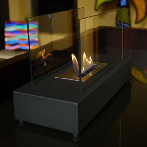 Nu-Flame Incendio Tabletop Fireplace (color: Black) by Nu-Flame