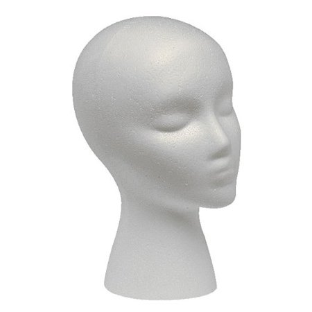 Case Pack of 12 Styrofoam Foam Mannequin Wig Head Display Hat Cap By Giell Ship from US](Styrofoam Hats)
