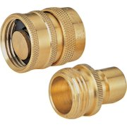 Landscapers Select Hose Connector, 3/4 In, Solid Brass