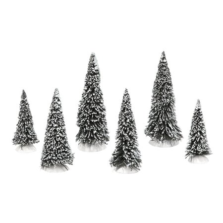 Department 56 Snow Village Snow Covered Pines Tress Christmas Figurines Set of -