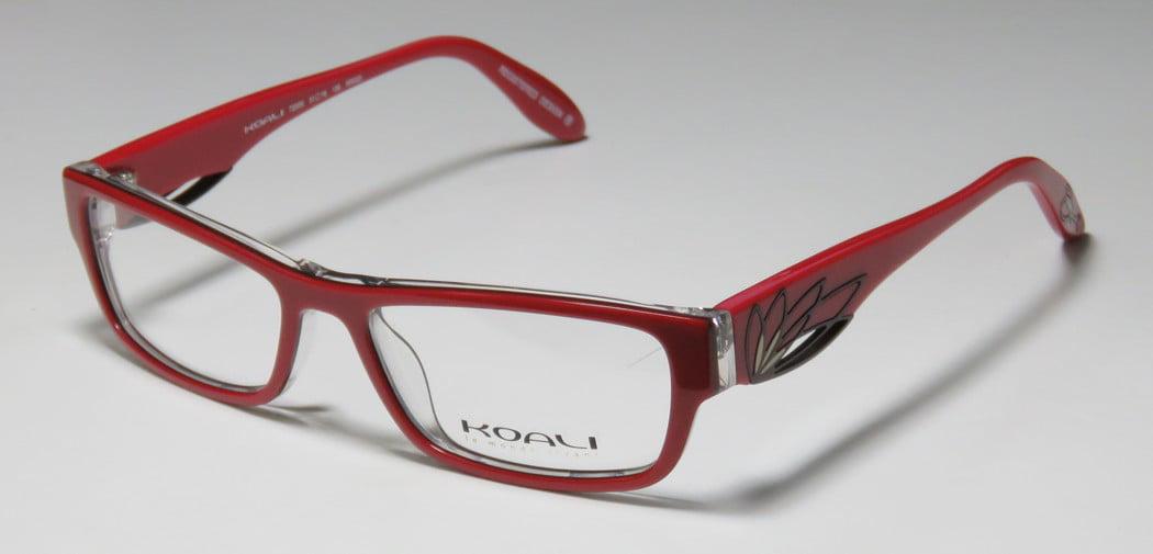 New Koali 7200k Womens/Ladies Designer Full-Rim Red / Clear Frame ...