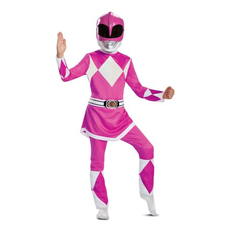 Power Rangers - Mighty Morphin Pink Ranger Deluxe Child Costume - Mighty Morphin Power Rangers Costumes For Adults
