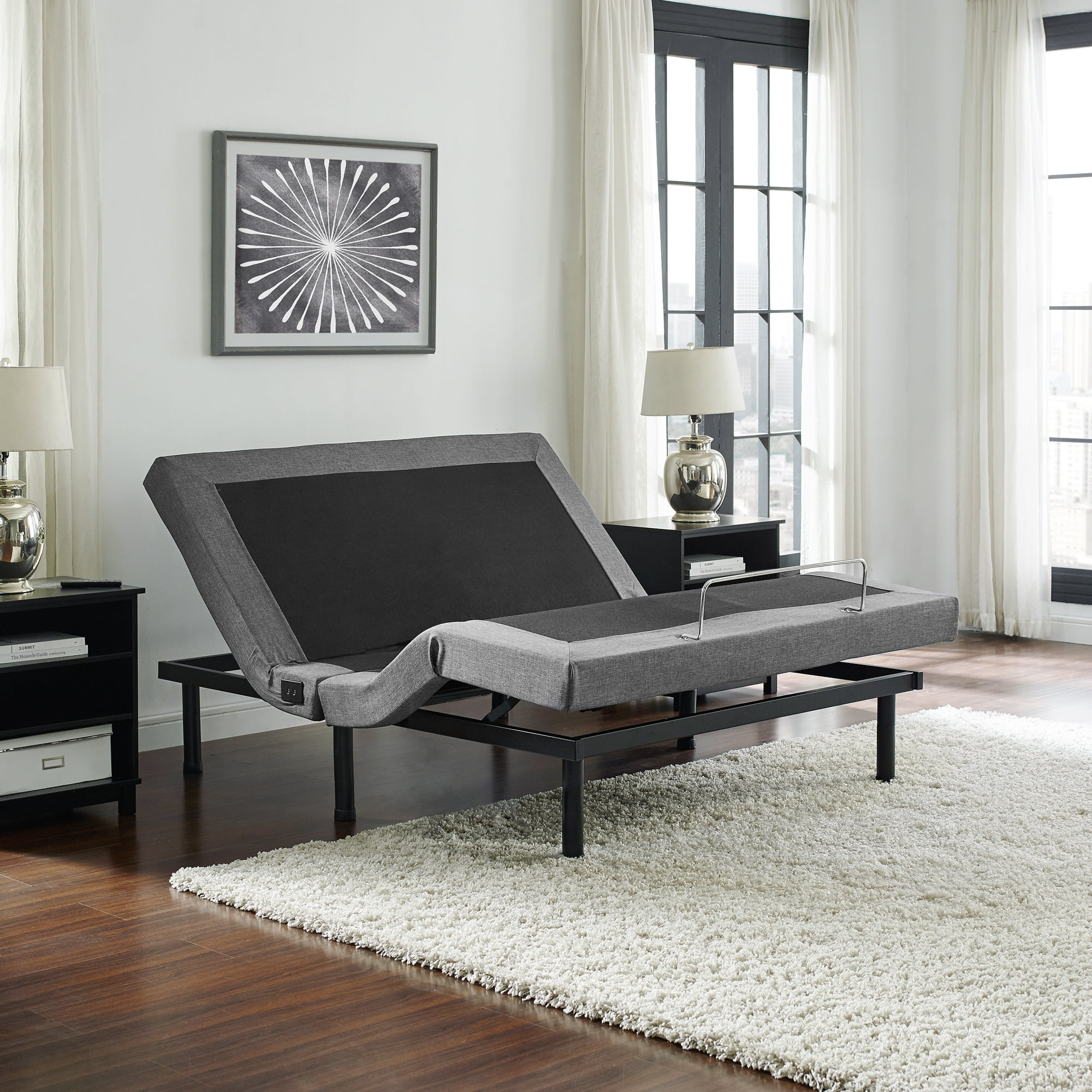 Posturecloud Adjustable Bed Base Dual Massage Usbs Three Leg Height Options And Wireless Remote Upholstered Ergonomic Bed Twin Xl Walmart Com Walmart Com