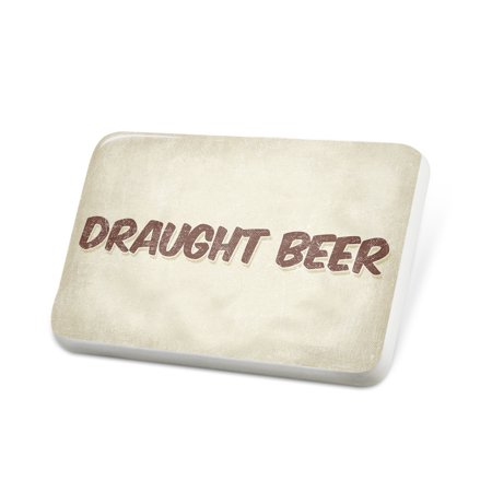 Porcelein Pin Draught Beer, Vintage style Lapel Badge – NEONBLOND