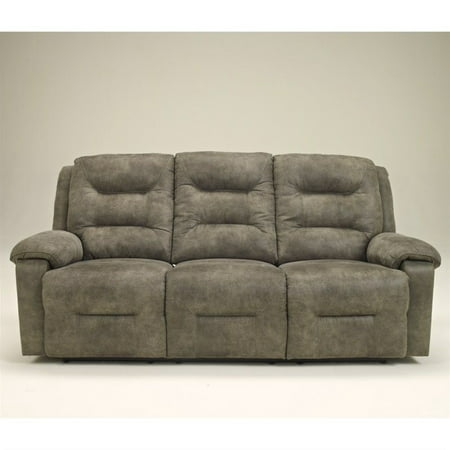 Ashley Furniture Rotation Power Reclining Sofa in Smoke