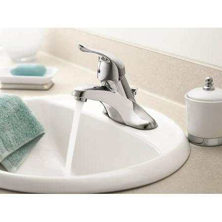 Moen L4621 Single Handle Centerset Bathroom Faucet - Chrome