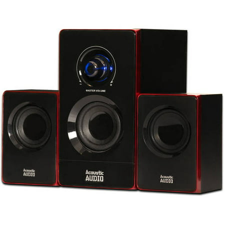 Acoustic Audio AA2103 Bluetooth Multimedia 2.1 Home Theater Computer Speaker
