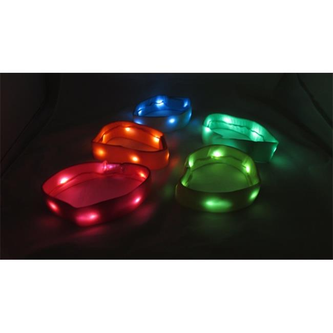 WeGlow International 20FHB1N Neon Light Up Headband - Assorted - Set Of 3
