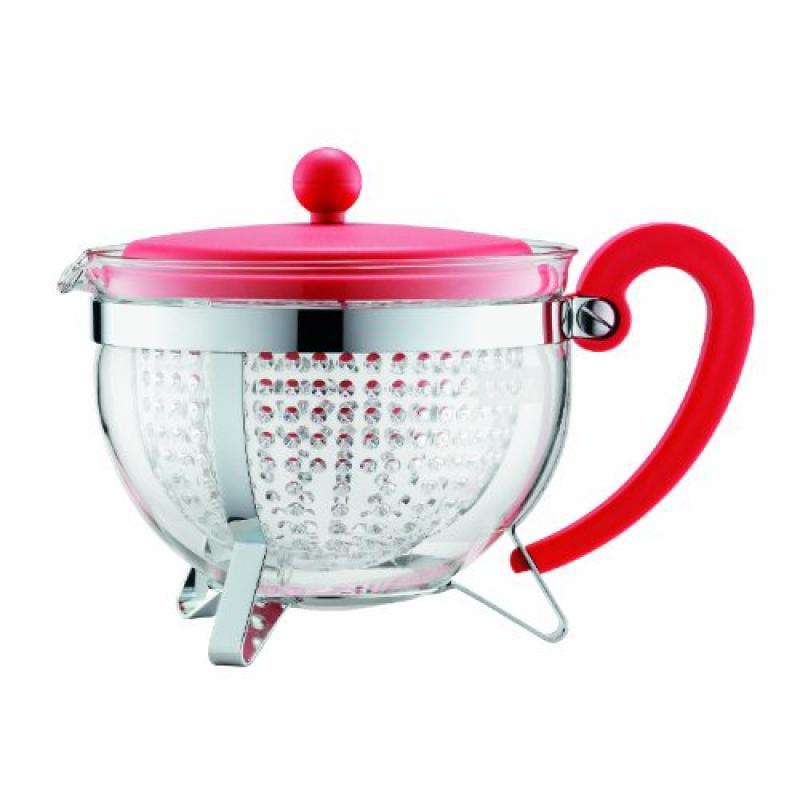 Bodum Chambord 1.3-Liter Tea Pot, 44-Ounce, Red