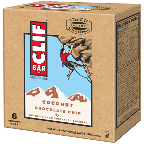 CLIF Bar Coconut Chocolate Chip Energy Bars, 2.4 oz, 6 count