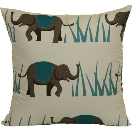 Green Tweed Pillow (Mainstays Elephant Pillow, 16