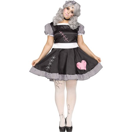 Broken Doll Women's Plus Size Halloween - Evil Doll Halloween